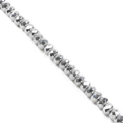 Fire Polish Donut Labrador Beads Approx 4x7mm (40PCS/ST)