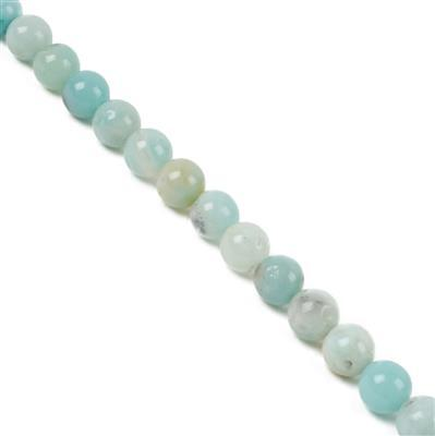 160cts Multi-Colour Amazonite Plain Rounds Approx 8mm, 38cm Strand
