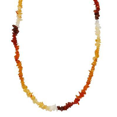 65cts Fire Opal Plain Small Nuggets Approx From 2x1 to 7x1mm, 86cm Strand.