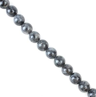 390cts Larvikite Plain Rounds Approx 12mm, 38cm strand