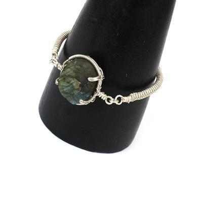 Dreamy Druzy: 235cts Labradorite Druzy Multi Shape Assortment, 90cts Green Onyx & Wire