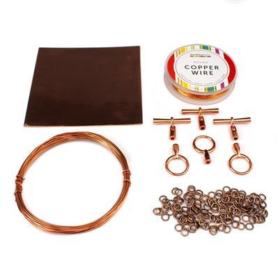 Heavy Metal!! Including Copper Sheet,Copper 1mm &0.8mm Wire, 250 Jump Rings and Toggles