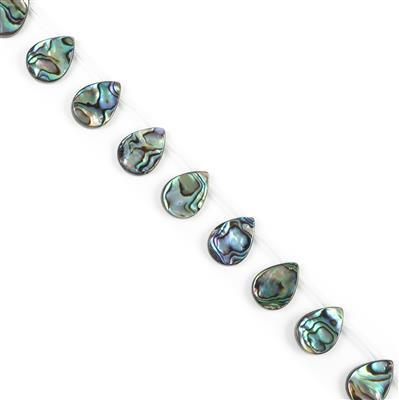 Abalone Top-Drilled Pears Approx 18x13mm, Approx 22pcs Strand