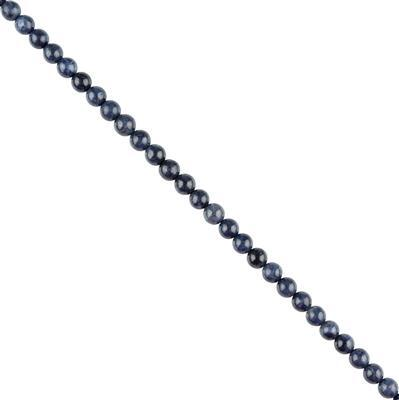 85cts Blue Sapphire Plain Rounds Approx 6mm, 18cm Strand.