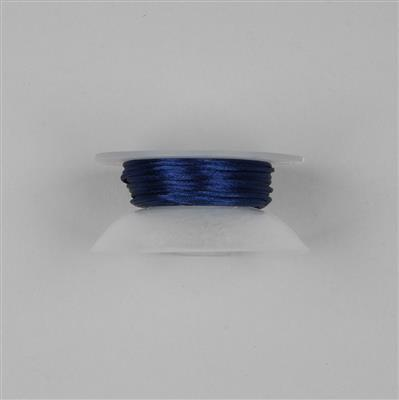 10m Navy Blue Satin Cord 1mm on Bobbin