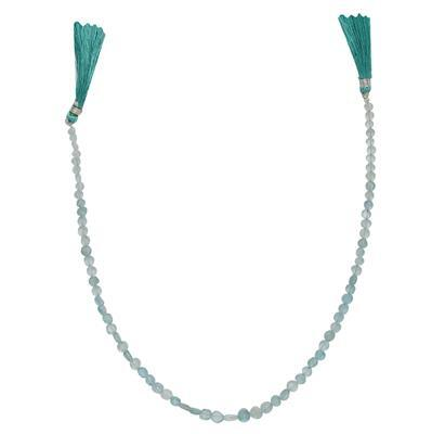 35cts Sky Blue Apatite Graduated Irregular Plain Buttons Approx From 3 to 5mm, 30cm Strand.