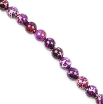 290cts Purple Variscite Plain Rounds Approx 12mm 38cm