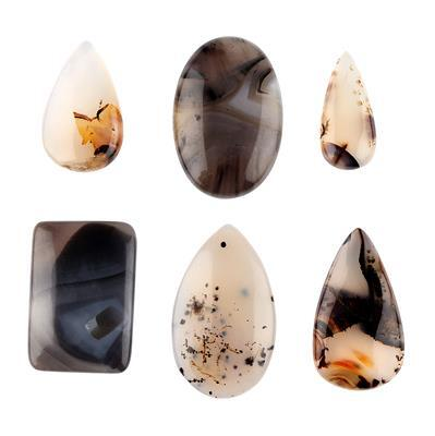 245cts Montana Agate Multi Shape Cabochons Assortment.