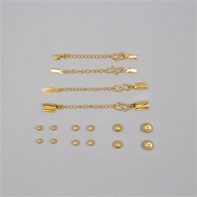 Matrix Collection; Gold Plated Copper Macrame Kit  (16pcs)