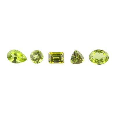 5.50cts Peridot Faceted Multi Shape Assortment.