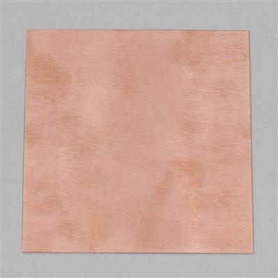 Brushed Bare Copper Sheet Approx 6x6