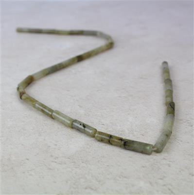 70cts Labradorite Tubes Approx 4x13mm, 38cm strand