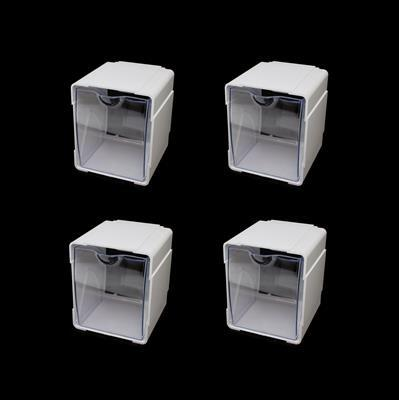 Deflecto Interlocking Tilt Bins (4 Pack)