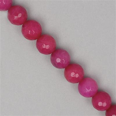 340cts Hot Pink Quartzite Faceted Rounds Approx 12mm