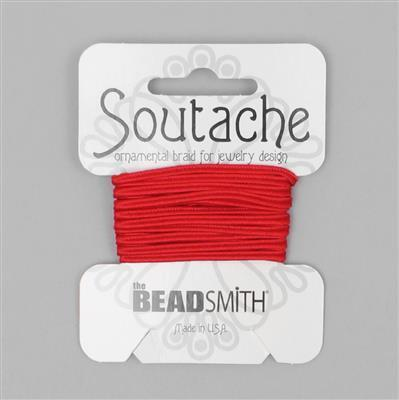 Red Soutache Cord 3yards 3mm