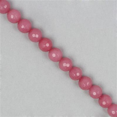 150cts Strawberry Pink Quartzite Faceted Rounds Approx 8mm