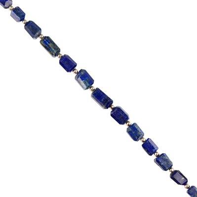 96cts Lapis Lazuli Graduated Faceted Medium Nuggets Approx 8x5 to 13x9mm, 18cm Strand.