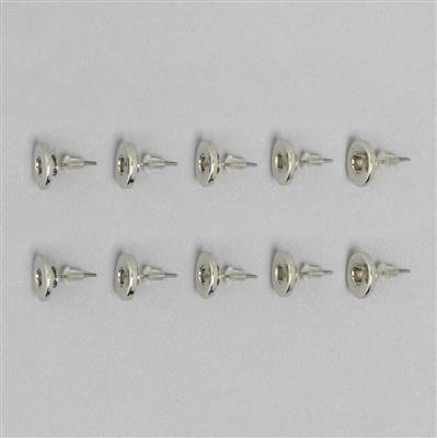 Silver Plated Snap Stud Earring Findings 12mm (5 pairs)