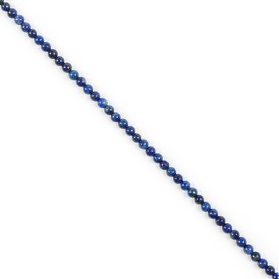 40cts Lapis Lazuli Plain Rounds Approx 4mm 38cm strand