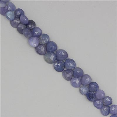 135cts Tanzanite Graduated Faceted Drops Approx 7 to 10mm, 22cm Strand.