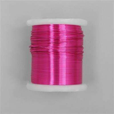 100m Fuchsia Coloured Copper Wire 0.6mm