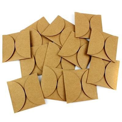 Kraft Earring Packaging w/ Insert Approx 65x65mm (12pk)