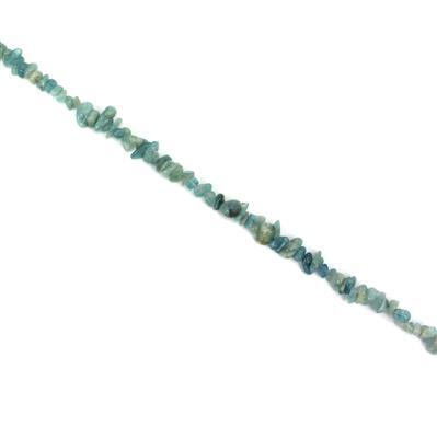 100cts Milky Aquamarine Chips Approx 5x4 to 10x5mm 38cm strand;