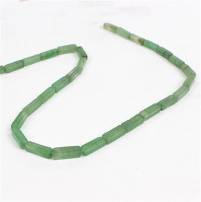 60cts Green Aventurine Rectangle Cuboids, Approx 4x13mm, Approx 38cm/strand