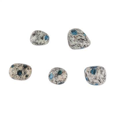 190cts K2 Jasper Plain Tumbles. (Pack of 5)