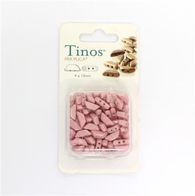 Opaque Light Rose Tino Par Puca Beads Approx 5x10mm (14GM)