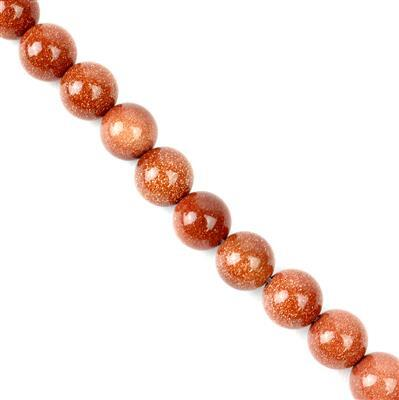Brown Goldstone Plain Rounds Approx 10mm, 38cm strand