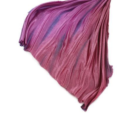 Amethyst Copper Shibori Silk Ribbon 1/2 Yard