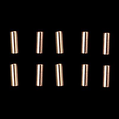 Rose Gold Plated 925 Sterling Silver Tubes Approx 1.8x5mm 10 Pcs