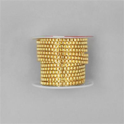 5m Gold Plated Brass Box Chain Approx 3mm