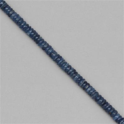 158cts Kyanite Plain Rondelles Approx 6x2 to 8x2mm, 18cm Strands.