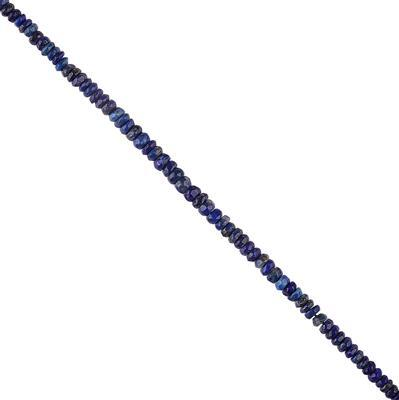 45cts Lapis Lazuli Graduated Faceted Rondelles Approx 2x1 to 4x2mm, 30cm Strand.