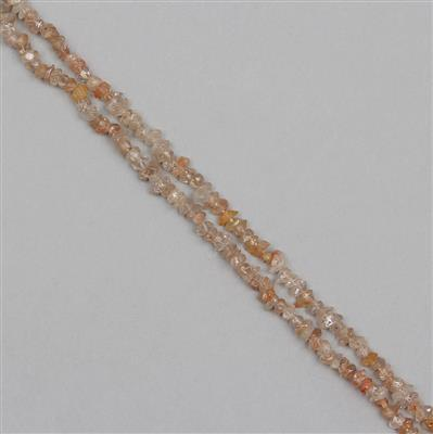 160cts Zircon Rough Small Nuggets Approx 2x1 to 7x2mm,  85cm Strand.
