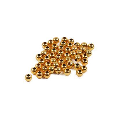 Gold Coloured Balls Approx 4mm 48pk