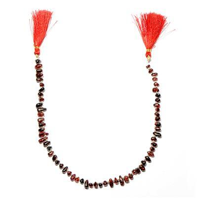 90cts Red Garnet Plain Irregular Drops Approx 4x3 to 10x4mm, 30cm Strand.