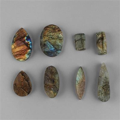 235cts Labradorite Druzy Multi Shape Assortment.