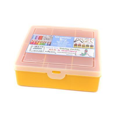 Sunflower Organiser with 5 divisions  8.03 Square 16x17x5cm