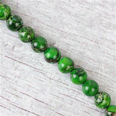 130cts Malachite Green Variscite Plain Rounds Approx 8mm 38cm