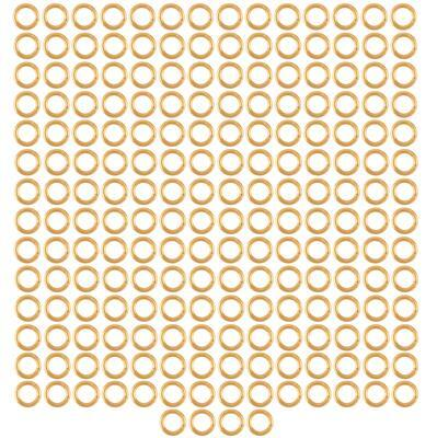 Champagne Gold Colour Plated Copper Open Jump Rings ID Approx 4mm. (Approx 200pcs)