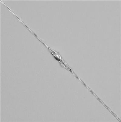 925 Sterling Silver Panza Curb Chain with 1.3mm Links, 76cm/30
