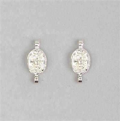 925 Sterling Silver Magnetic Clasp Approx 8x16mm (2pcs)
