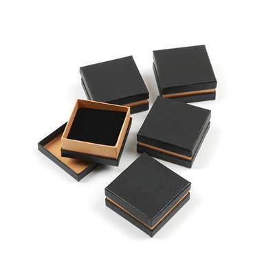 Metallic Small Universal Box Black/Gold 65mm x 65mm x 25mm (5pk)