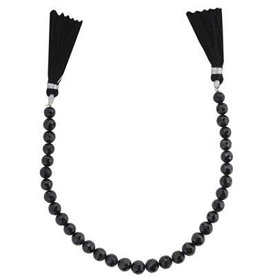 110cts Black Spinel Graduated Faceted Rounds Approx 6 to 7mm, 20cm Strand.