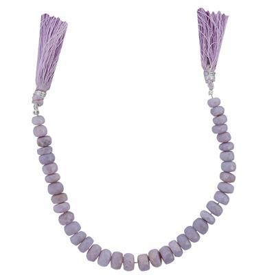 65cts Lavender Opal Graduated Faceted Rondelles Approx 3x2 to 8x4mm, 16cm Strand.