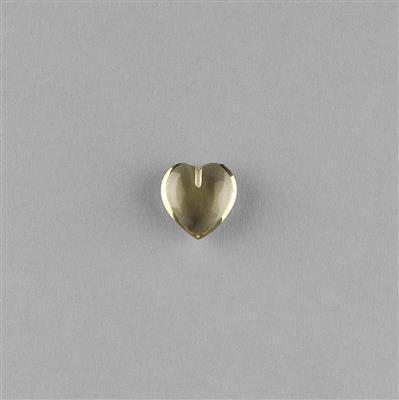 4.50cts Lemon Quartz Plain Puffy Heart 11mm.