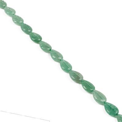 70cts Green Aventurine Leaves Approx 12x8mm, Approx 38cm Strand